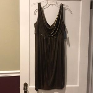 NWT AGB gold shimmery cocktail dress